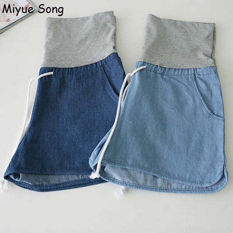 [해외]출산 데님 루스 반바지 청바지 플러스 사이즈 임신 짧은 바지 옷 임신 한 여자 카프리 바지 2017/Maternity Denim Loose Shorts Jeans Plus Size Pregnancy Short Pants Clothes Pregnant Women