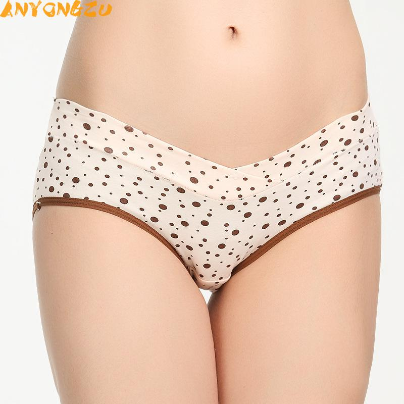 [해외]10pcs / lot 안 롱쥬 탄성 허리 내츄럴 컬러 임산부 속옷 코튼 이음매없는 허리 레이디 복부 반바지/10pcs/lot  Anyongzu Elastic Waist Natural Color Pregnant Women Underwear Cotton Seamle