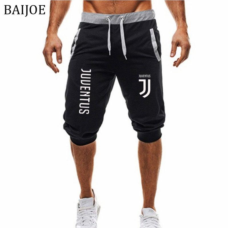 [해외]2018 여름 신작 반바지 유벤투스 캐주얼 패션 조깅 선수 무릎 길이 스웨트 맨 휘트니스 Drawstring 반바지/2018 Summer New Mens shorts juventus Printed Casual Fashion Jogger Knee Length Sw