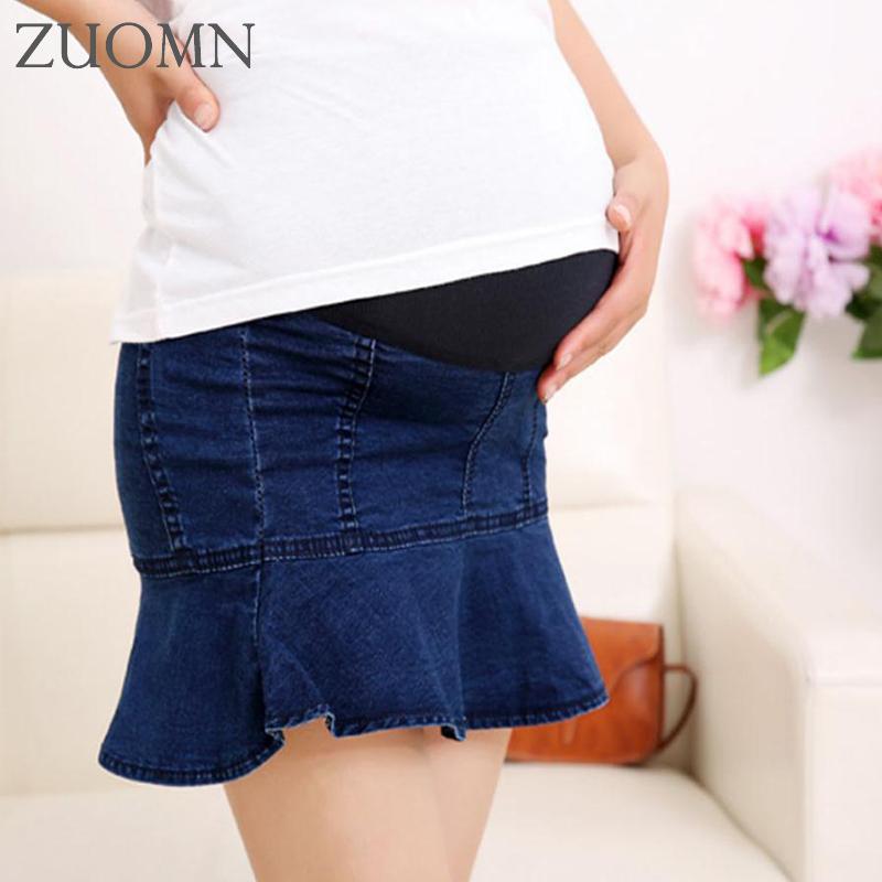 [해외]여름 임산부 치마 패키지 임신 한 여성을힙합 데님 스커트 임산부 짧은 배꼽 스커트 임신 한 여성을YL669/Summer Maternity Skirt Package Hip Denim Skirt For Pregnant Women Maternity Short Bell