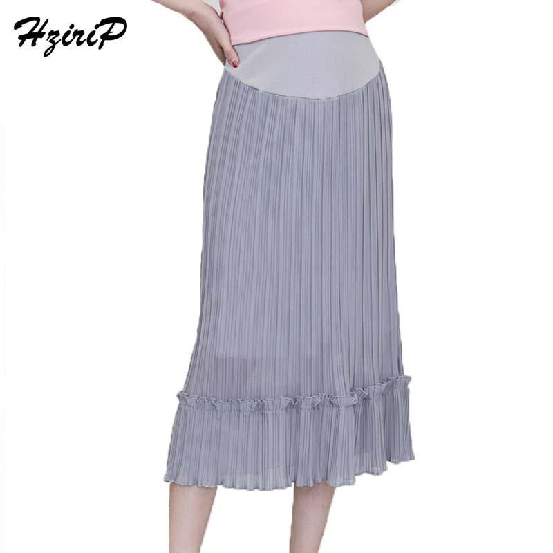 [해외]HziriP 출산 스커트 쉬폰 쉬폰 바느질 임신 복부 루스 케어 배꼽 임신 여성 진 스커트 M-XL/HziriP  Maternity Skirts Chiffon Ruffles Stitching Pregnant Clothes Loose Care Belly Pregn