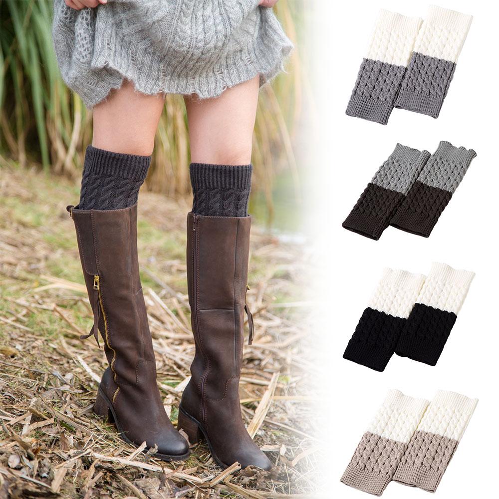 [해외]여자 겨울 다리 따뜻하게 더블 컬러 튀김 반죽 트위스트 니트 부팅 양말/Women Winter Leg Warmers Double Color Fried Dough Twist Knitted Boot Socks