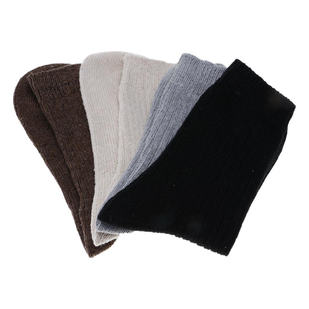 [해외]UniMale 여성 겨울 따뜻하게 니트 스트라이프 두꺼운 토끼 울 양말 캐주얼 간결한/UniMale Female Winter Warmer Knitted Stripe Thick Rabbit Wool Socks Casual Concise