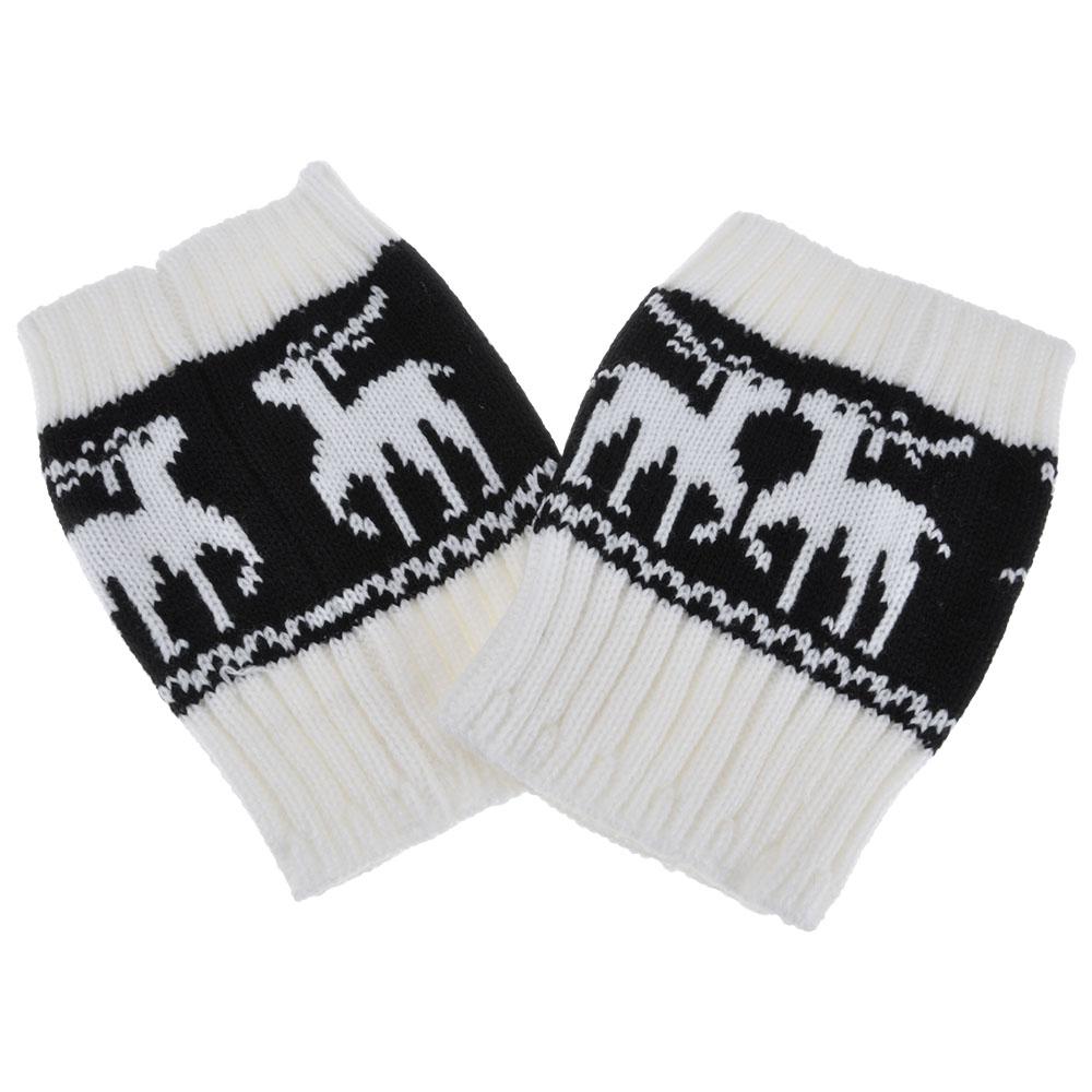 [해외]여자 패션 크리스마스 다리 따뜻하게 동물 사슴 크로 셰 뜨개질 짧은 부팅 양말/Women Fashion Christmas Leg Warmers Animal Deer Crochet Knitted Short Boot Socks