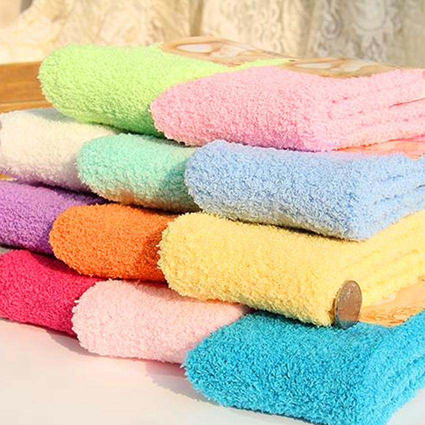 [해외]3pair / lot 안 양즈 양말 내츄럴 컬러 숙녀 세미 코랄 벨벳 양말 보온 실린더 바닥 수건 23cm -25cm/3pair/lot  Anyongzu Sock Natural Color Ladies Semi Coral Velvet Socks Heat Prese