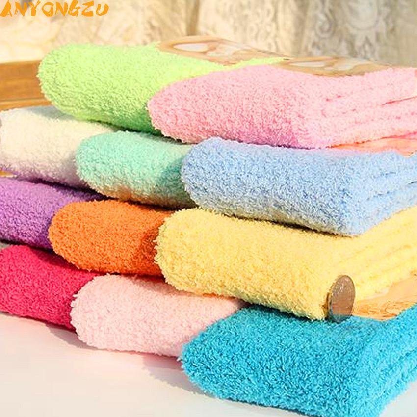 [해외]3pair / lot 안 양즈 양말 내추럴 컬러 숙녀 세미 코랄 벨벳 양말 보온 바닥 수건 양말 23cm -25cm/3pair/lot  Anyongzu Sock Natural Color Ladies Semi Coral Velvet Socks Heat Preser