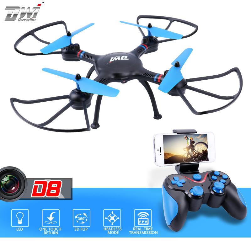 [해외]RC Quadcopter RC DroneCamera HD FPV WiFi 원격 제어 헬리콥터 장난감 2.4G 고도 보류 ALT 사진 비디오 Dwi Dowellin D8/RC Quadcopter RC DroneCamera hd FPV WiFi Remote Cont
