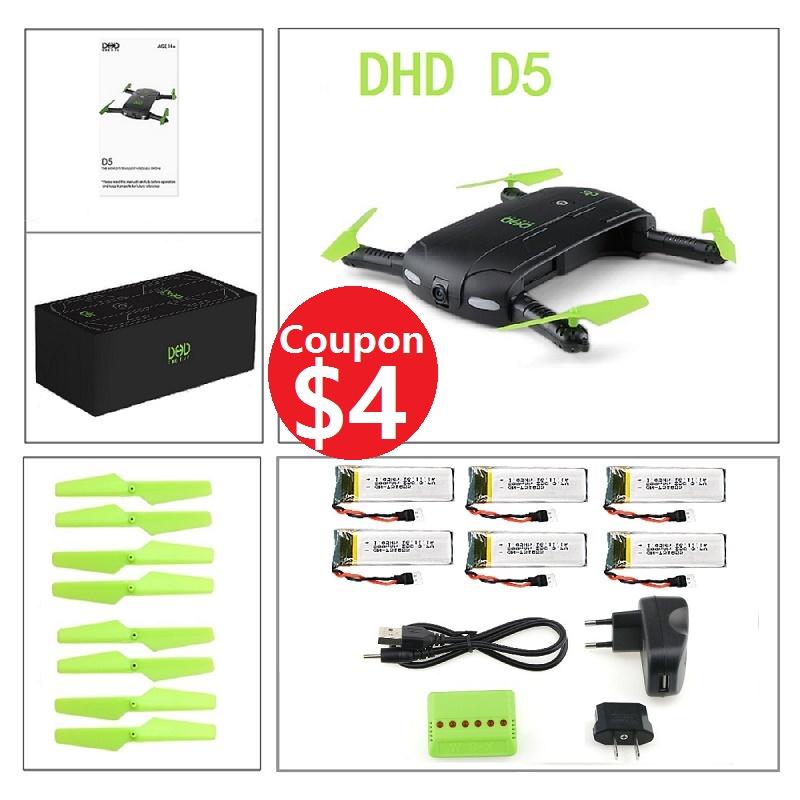 [해외]DHD D5 0.3MP 카메라 와이파이 FPV fodable 포켓 무인 항공기 고도 개최 헤드리스 모드 RC Quadcopter 대 JY018 GW018 E50 T37/DHD D5 0.3MP Camera WIFI FPV fodable Pocket Drone Al