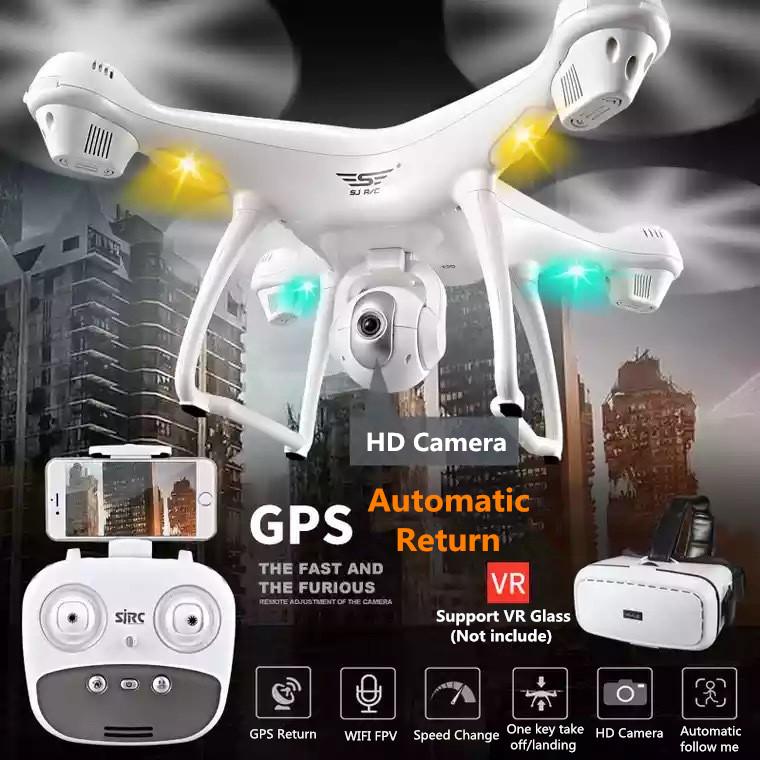 [해외]SJD S70W 듀얼 GPS 날 따라 와일리 FPV RC 무인 비행기 헬리콥터 400M 1080P 광각 카메라 GPS 위치 quadcopter 대 X183 x21/SJD S70W Dual GPS Follow Me WIFI FPV RC Drone Helicopte