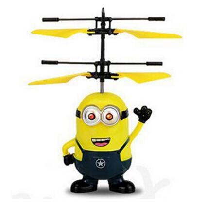 [해외]2018 s 프로모션 시간 MJDTOYS RC 플라잉 완구 Me 미니언 비행기 비행기 플라이 볼 내장형 Shinning LED 조명 베스트 선물/2018 s Promotion Times MJDTOYS RC Flying Toys Me Minion Plane Air