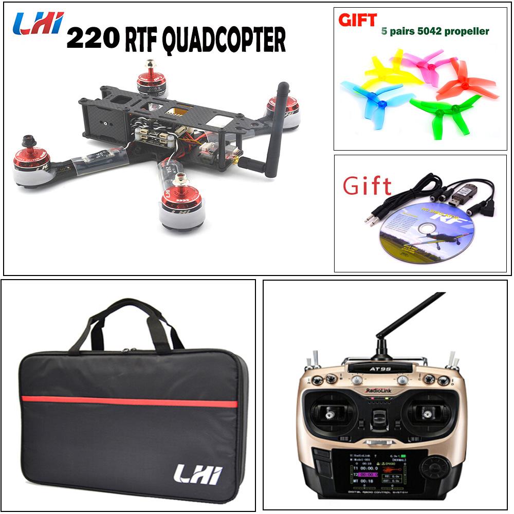 [해외]F3 비행 컨트롤러 LHI 20A 용 220mm RC 쿼드 커터 Blheli_S ESC + 2205_S 브러시리스 모터 및 카메라 Drone XT60 X220 프레임/220mm RC quadcopter for F3 flight controller LHI 20A