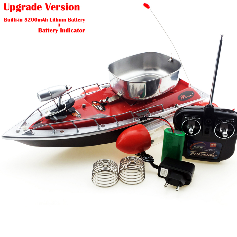 [해외]80-300M 장거리 RC 미끼 보트 원격 조정 보트 낚시 미끼 보트 내장 5200mAh Lipo 블루 / 레드 / 그린 재고 있음/Upgrade 80-300M Long Range RC Bait Boat Remote Control Boat Fishing Lure