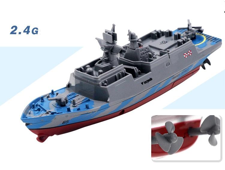 [해외]2.4G 4 채널 미니 RC 보트 미니 전함 원격 제어 도전자 고속 미니 RC 선박/2.4G 4 channels Mini RC Boat Mini Warship Remote Control Challenger  High-Speed Mini RC Ship