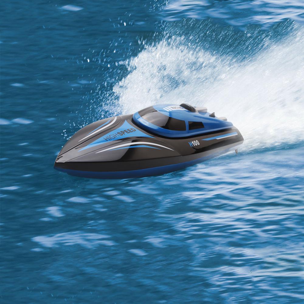 [해외]원격 제어 레이싱 보트 H100 2.4GHz 4 채널 고속 RC BoatLCD 스크린 RC 라디오 보트/Remote Control Racing Boat H100 2.4GHz 4 Channel High Speed RC BoatLCD Screen RC Radio B