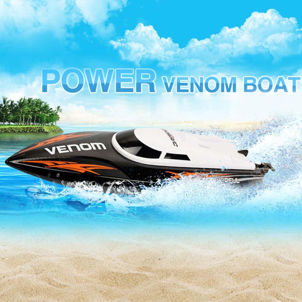[해외]RC Speedboat UDI 001 소형 템포 힘 독 2.4G 원격 제어 보트 자동 정류 편차 방향 기능/RC Speedboat UDI 001 Mini Tempo Power Venom 2.4G Remote Control BoatAuto Rectifying De
