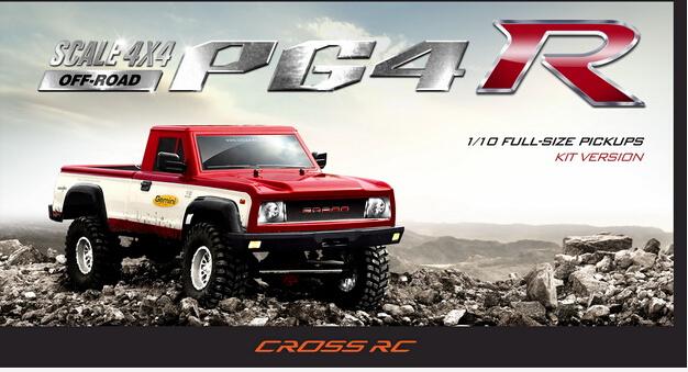 [해외]1/10 크로스 PG4 락 크롤러 PICKUP 트럭 4x4 킷 호환 Toyota Bruiser Hulix 타미야 RC4WD tf2 트레일 Finder2 F-350 Hilux/1/10 Cross PG4 Rock Crawler PICKUP Truck 4x4 KIT