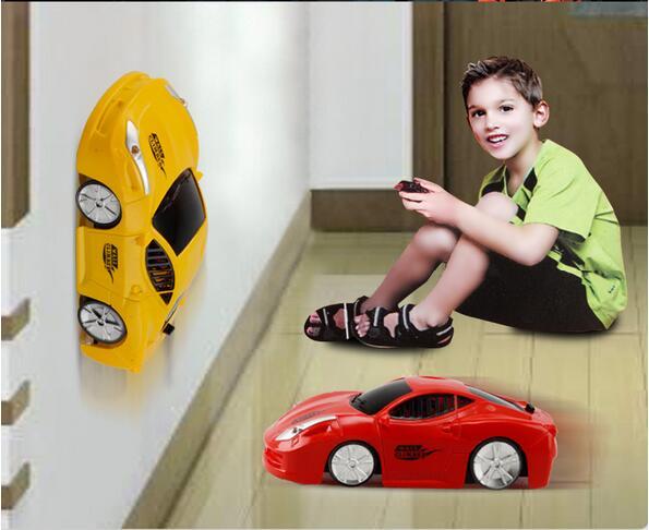 [해외]?소년 크리스마스 선물 슈퍼 벽 산악인 자동차 원격 제어 자동차 전기 자동차 벽 등반 자동차 미니 RC 벽 장난감/ boy Christmas gifts Super wall climber car Remote Control Car  Electric Car Wall