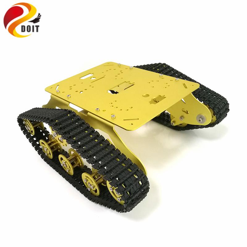 [해외]DOIT TS300 충격 흡수 로봇 탱크 섀시 RC 탱크 추적 모델 CarDual DC 12V 모터 + 플라스틱 트랙 + 서스펜션 부품/DOIT TS300 Shock Absorption Robot Tank Chassis RC Tank Model Tracked C