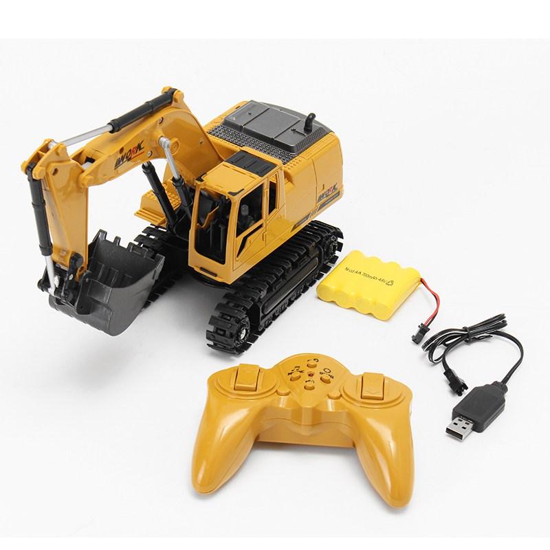 [해외]?AO HAI 1/24 2.4Ghz 8CH 다이 캐스트 원격 굴삭기 엔지니어 트럭 자동차 완구/ AO HAI 1/24 2.4Ghz 8CH Die-cast Remote Excavator Engineer Truck Car Toys
