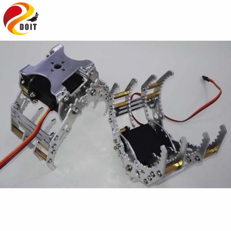 [해외]알루미늄 금속 로봇 클램프 / 그리퍼 / 클로 / 로봇 조작기 용 암 diy 로봇 공학 rc 장난감 기계식 로봇 암 클램프 클로/alluminum metal robotic clamp/gripper/claw/ for robot manipulator arm diy