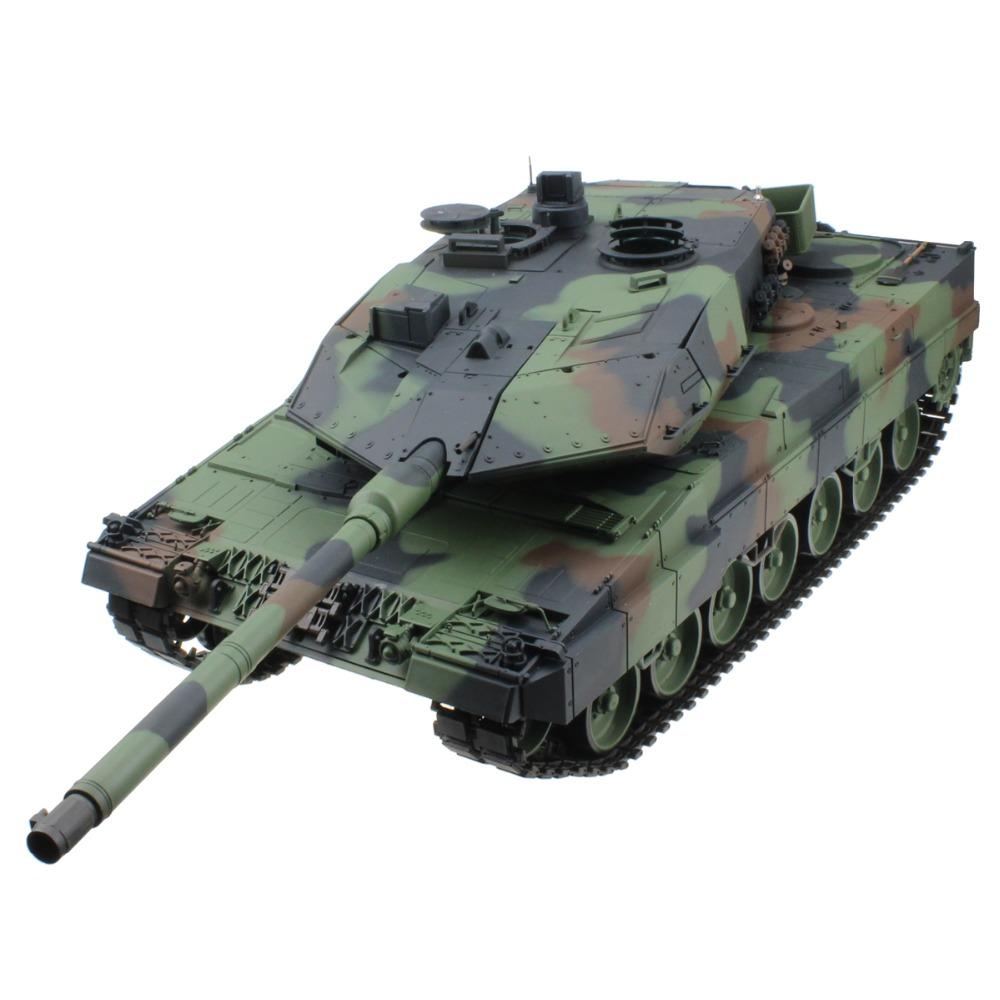 [해외]2.4G 1/16 15 채널 독일 표범 2 A6 라디오 컨트롤 전투 탱크 RC 육군 탱크 모델 키트 장난감 선물/2.4G 1/16 15 Channel German Leopard 2 A6 Radio Control Battle Tank RC Army Tank Mod