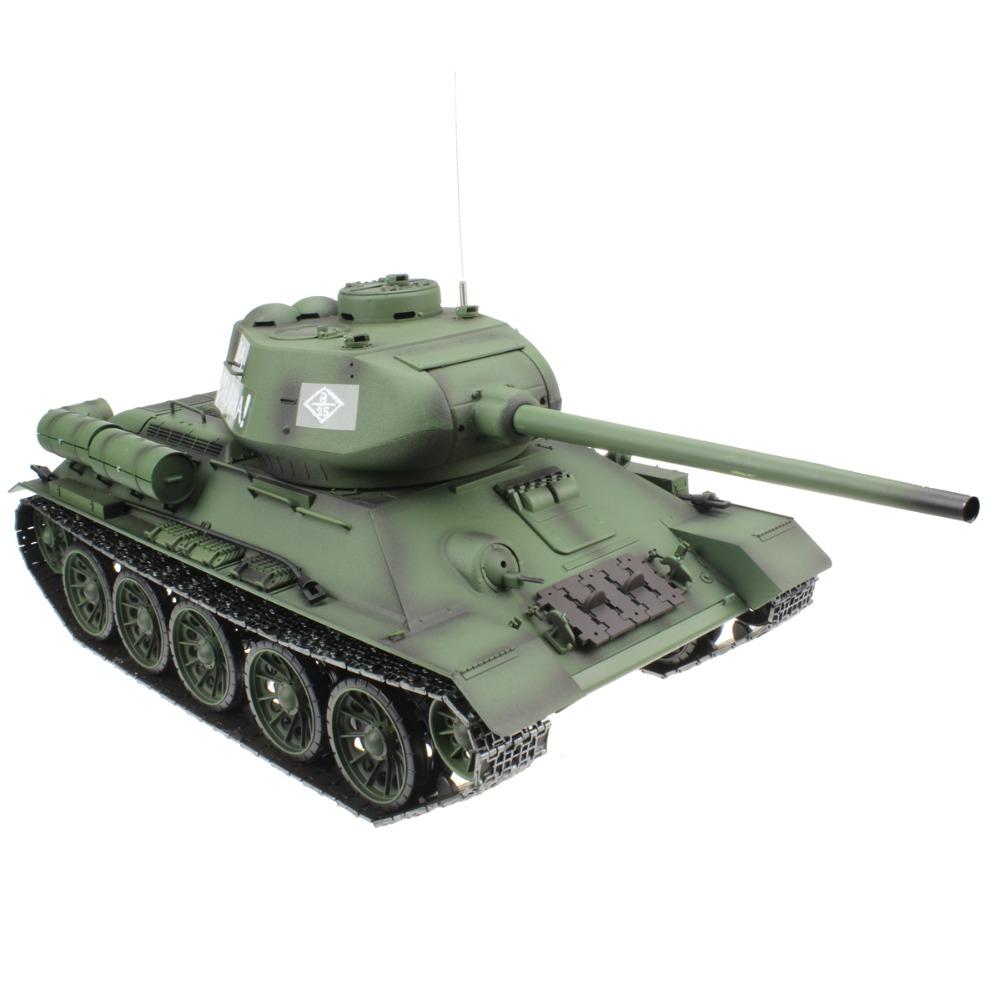 [해외]2.4G 1/16 러시아 군 T34 T-34 / 85 RC 전투 탱크 2 차 세계 대전 모델 선물 장난감/2.4G 1/16 Russian Army T34 T-34/85 RC Battle Tank World War II Model Gift Toy