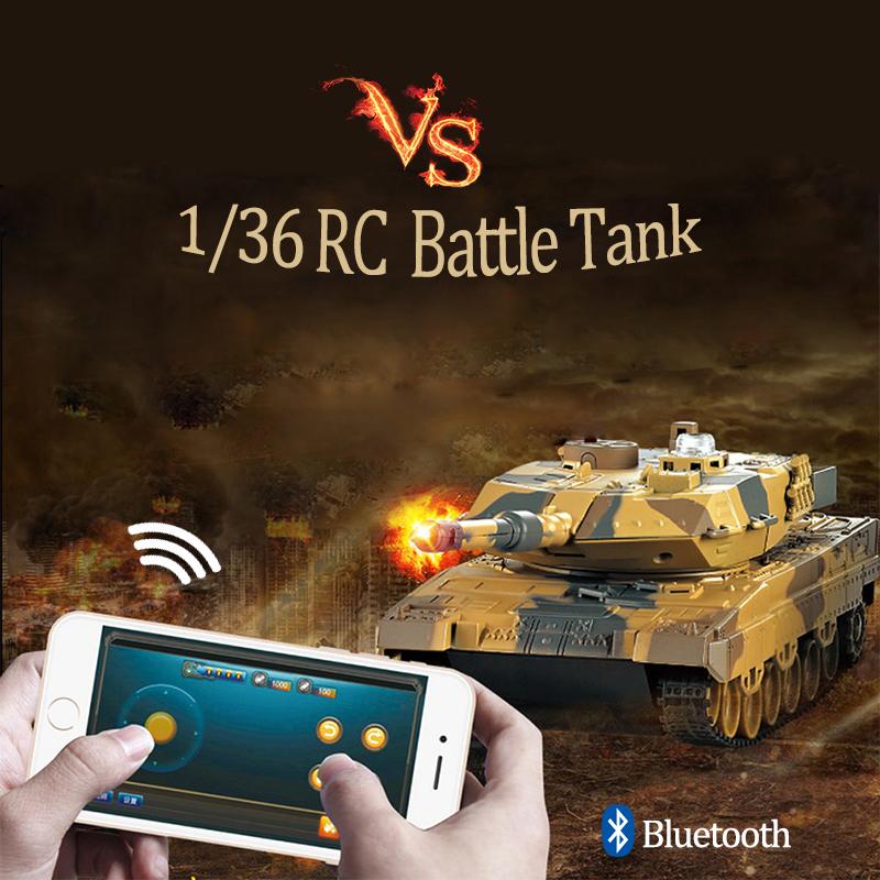 [해외]RC 싸우는 전투 탱크 1:36 Phone Control Simulated Panzer 미니 투쟁 탱크, 어린이, 소년 용 원격 제어 완구/RC Fighting Battle Tank 1:36 Phone Control Simulated Panzer Mini  Ba