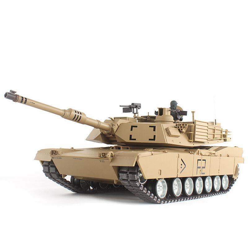 [해외]2.4G 1/16 미국 M1A2 Abrams 무선 원격 제어 전투 탱크 RC 탱크 모형 장난감/2.4G 1/16 US M1A2 Abrams Radio Remote Control Battle Tank RC Tank Model Toy