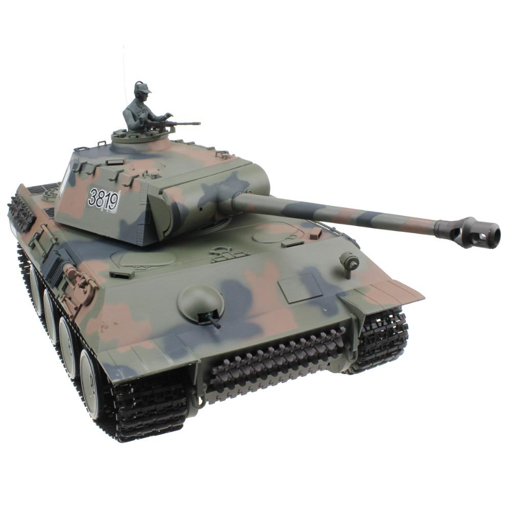 [해외]2.4G 1/16 독일어 PZ V 팬더 라디오 원격 제어 탱크 세계 대전 RC 탱크 모델 장난감/2.4G 1/16 German Pz V Panther Radio Remote Control Tank World War II RC Tank Model Toy