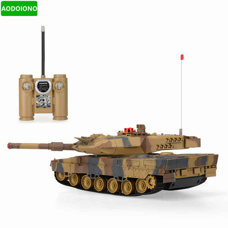 [해외]1/24 스케일 독일 표범 A6 적외선 격투 RC 전투 탱크 소리와 RC 탱크 완구/1/24 Scale German Leopard A6 Infrared Fighting RC Battle TankSound and Lights RC Tank Toys