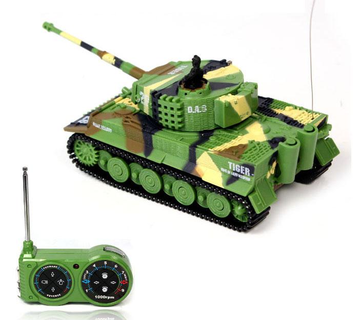 [해외]새로운 RC 탱크 1:72 클래식 RC 라디오 원격 제어 호랑이 RC 탱크 모델 어린이 선물 박스 팩없이 장난감/New  RC Tank 1:72 Classic RC Radio Remote Control Tiger RC Tank Model For Children