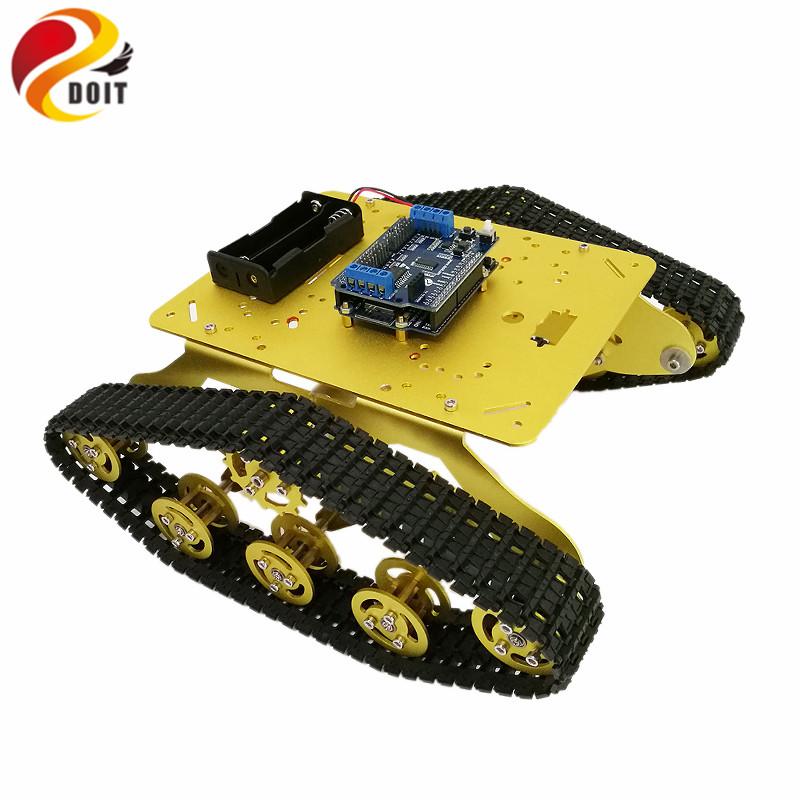 [해외]DOIT TS300 충격 흡수기 와이파이 탱크 샤시 ESPDuino 개발 보드 + 모터 드라이버 보드 CompatibleArduino DIY RC/DOIT TS300 Shock Absorber WiFi Tank ChassisESPDuino Development