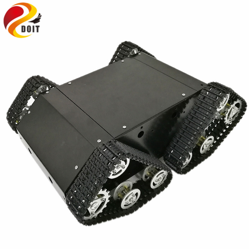 [해외]Arduino 개발 키트의 전기 장치 용 검은 색 RC 탱크 VT-100 밀폐 된 공간/DOIT Black RC Tank VT-100Enclosed Space for Electrical Devices from Arduino Development Kit