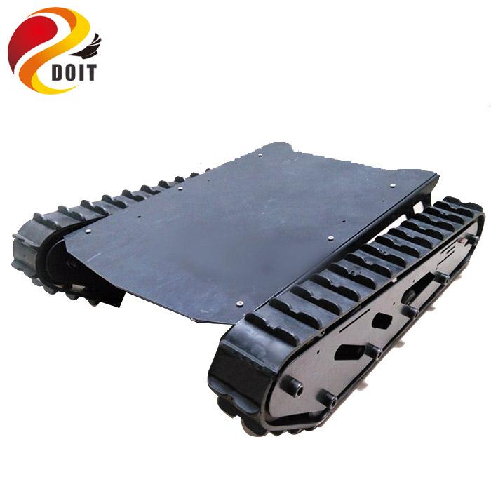 [해외]도트 15kg로드 T007 로봇 섀시 러버 트랙 + 로봇 프로젝트 용 빅 파워 모터/DOIT 15kg Load T007 Robot ChassisRubber Tracks+ Big Power Motor for Robot Project