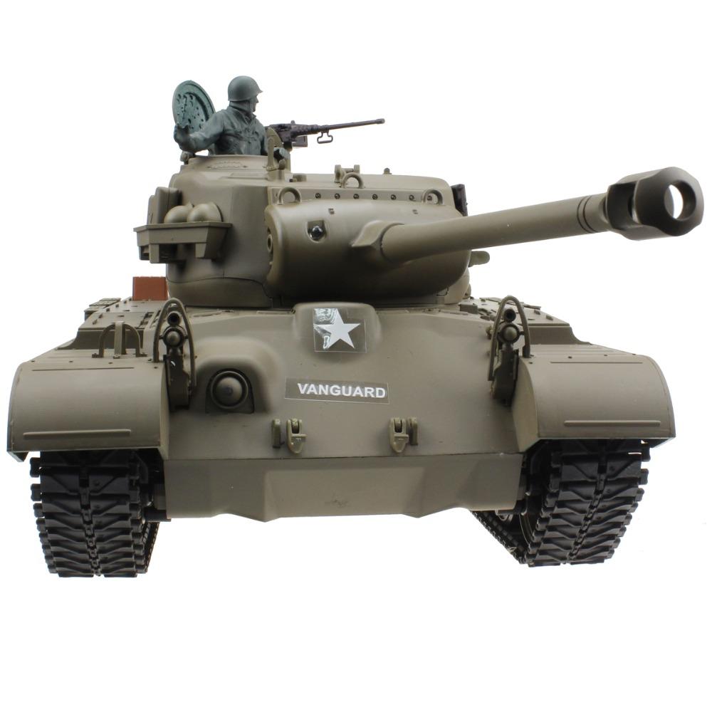 [해외]2.4Ghz 1/16 15 채널 미국 스노우 레오파드 퍼싱 M26 라디오 컨트롤 슈팅 연기가 나는 효과 전자 RC 탱크 모델 장난감/2.4Ghz 1/16 15 Channel US Snow Leopard Pershing M26 Radio Control Shooti