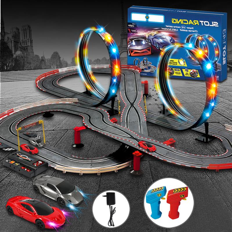 [해외]원격 제어 자동차 레이싱 트랙 어린이를전철 철도 장난감 선물 장난감 철도 트랙 기차 라이트 레일 자동차 장난감 자동차/Remote Control Car Racing Tracks Electric Train Railway Toy For Kids Gift toys R