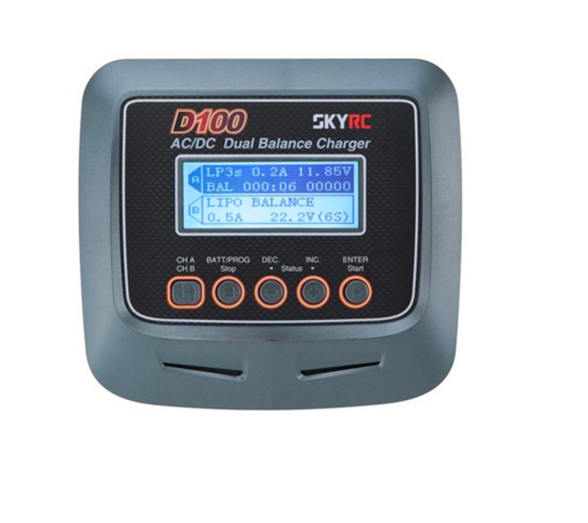 [해외]RC 모델 용 기존 SKYRC AC / DC 100-240V 1-6S 2x 100W 듀얼 밸런스 충전기 D100/Original SKYRC AC / DC 100-240V 1-6S 2x 100W Dual Balance Charger D100 for RC Model