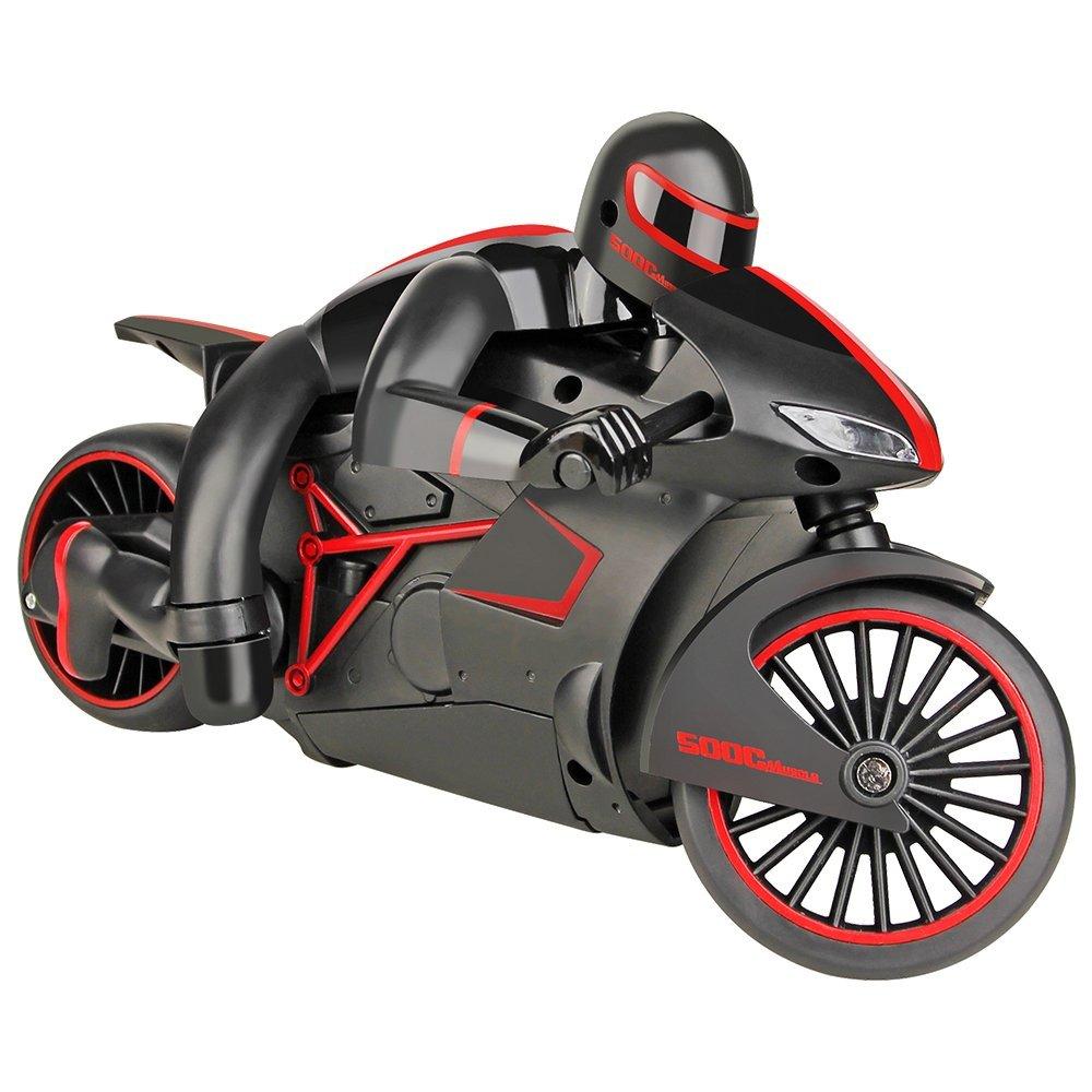 [해외]EBOYU (TM) 333-MT01B 고속 2.4GHz RC 오토바이 전조등 전기 원격 제어 오프로드 오토바이 차 LED 헤드 라이트/EBOYU(TM) 333-MT01B High-Speed 2.4GHz RC Motorcycle Full Scale Electric