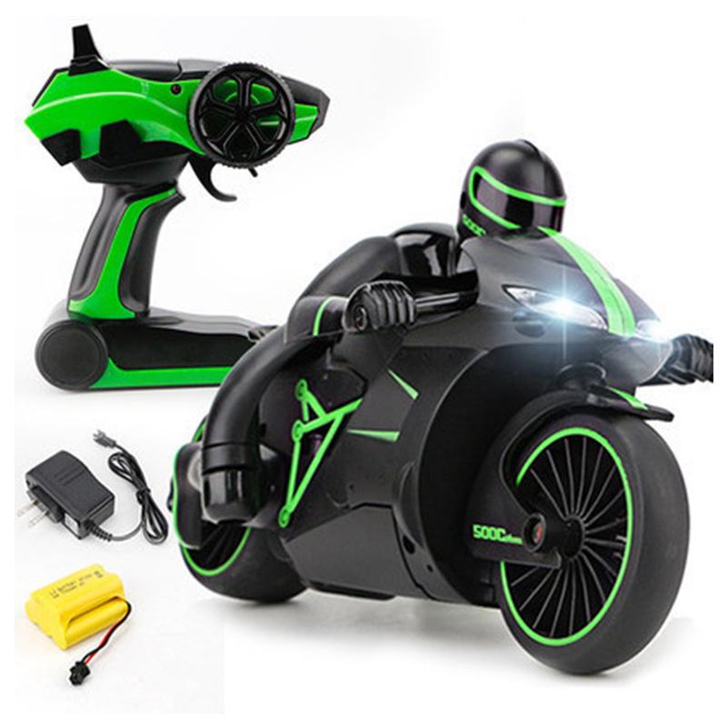 [해외]2.4G 미니 패션 RC MotorcycleCool 라이트 고속 RC 오토바이 모델 완구 원격 제어 드리프트 모터 키즈 완구 선물/2.4G Mini Fashion RC MotorcycleCool Light High Speed RC Motorbike Model T