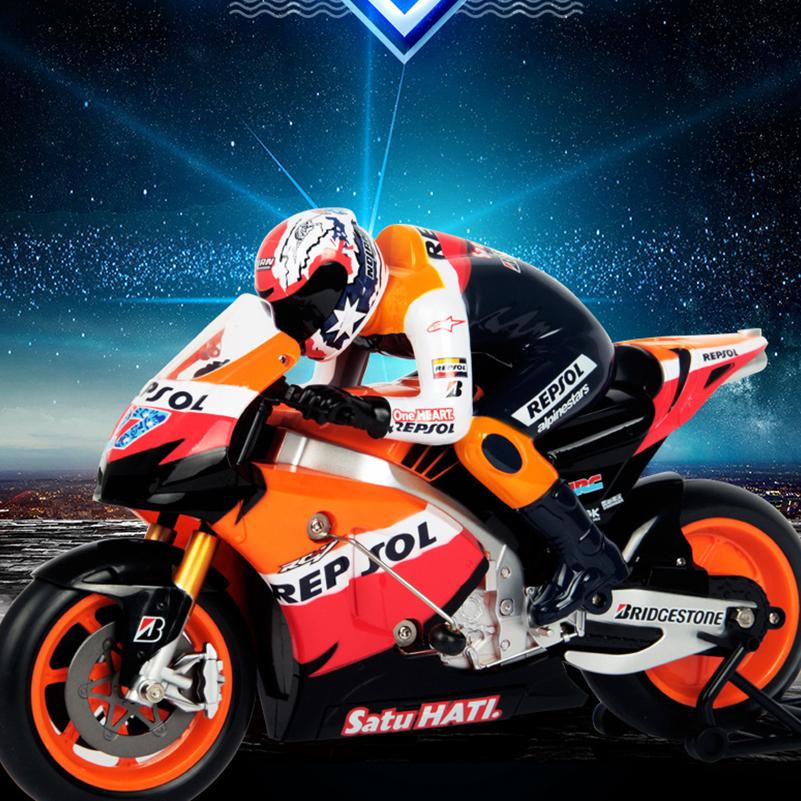 [해외]새로운 2.4 기가 헤르쯔 RC 오토바이 고속 드리프트 RC 오토바이 모델 완구 어린이원격 제어 모터 완구 선물/New 2.4Ghz RC Motorcycle High Speed Drift RC Motorbike Model Toys Remote Control Mo