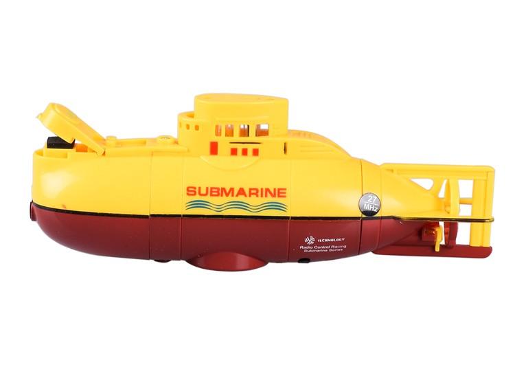 [해외]?RC 잠수함 6 채널 고속 라디오 원격 제어 전기 파랑 노랑 키즈 장난감 소년 모델 선물/ RC Submarine 6 Channel High Speed Radio Remote Control Electric Blue Yellow Kids Toy Boys Mode