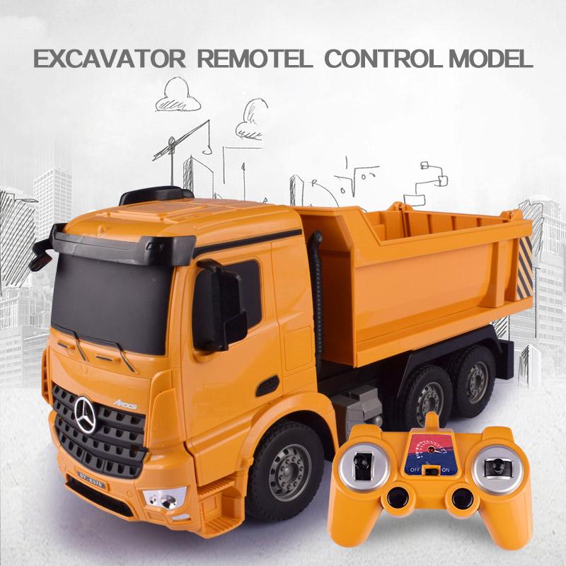[해외]헬리콥터 1:26 원본 Rc 트럭 굴착기 장난감 원격 제어 공학 덤프 트럭 모델 차량 완구/HELIWAY 1:26 Original Rc Truck Excavator Toy Remote Control Engineering Dump Truck Model Vehicl