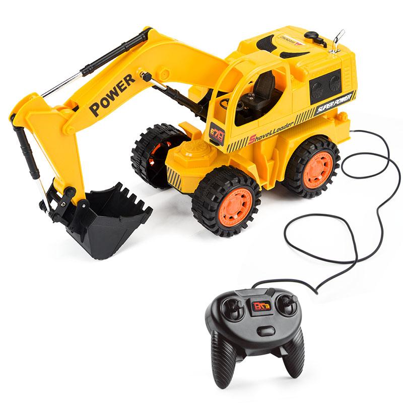 [해외]헬리콥터 RC 트럭 트럭 제어 굴삭기 장난감 슈퍼 파워 원격 제어 트럭 완구 RC 어린이 전기 장난감/HELIWAY RC Truck Wire Control Excavator Toy Super Power Remote Control Truck Toys RC Elec