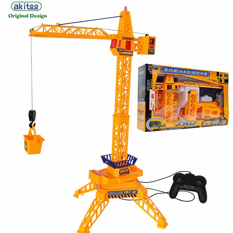 [해외]akitoo 1033 새로운 전기 원격 제어 프로젝트 자동차 모델 아이 타워 크레인 - 제어 완구/akitoo  1033 new Electric remote control project car model child tower crane - controlled w