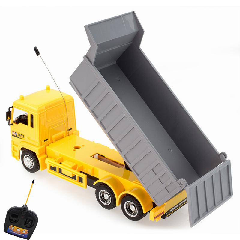 [해외]흥미로운 시뮬레이션 RC 엔지니어링 트럭 슈퍼 파워 RC 자동차 모델 덤프 트럭 어린이 및  소년 생일 휴가 선물/Interesting simulation RC Engineering truck Super power RC car model Dump truck Ch