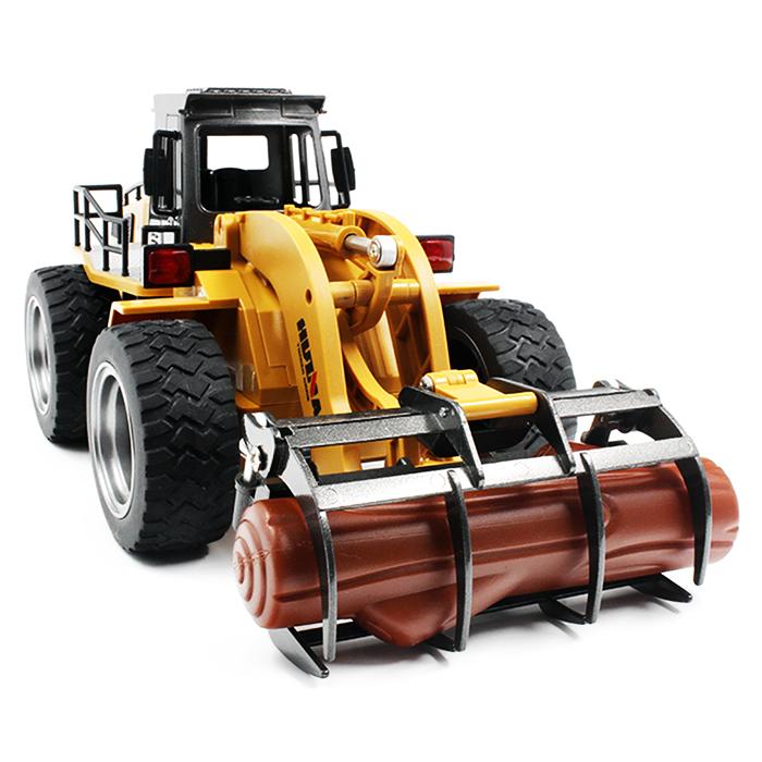 [해외]?RC 트럭 1:18 6CH RC 합금 목재 잡기 트럭 RTR 그라스퍼 개폐식 움직일 수있는 팔 기계식 소리 어린이 크리스마스 선물/ RC Truck 1:18 6CH RC Alloy Timber Grab Truck RTR Grasper Opening Closin