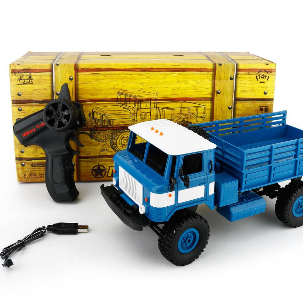 [해외]WPL B-24 2.4GHz 1/16 장난감 학년 4WD RC 밀리터리 트럭 무선 라디오 원격 제어 자동차 고속 자동차 Anti Knock DE15b/WPL B-24 2.4GHz 1/16 Toy Grade 4WD RC Military Truck Wireless