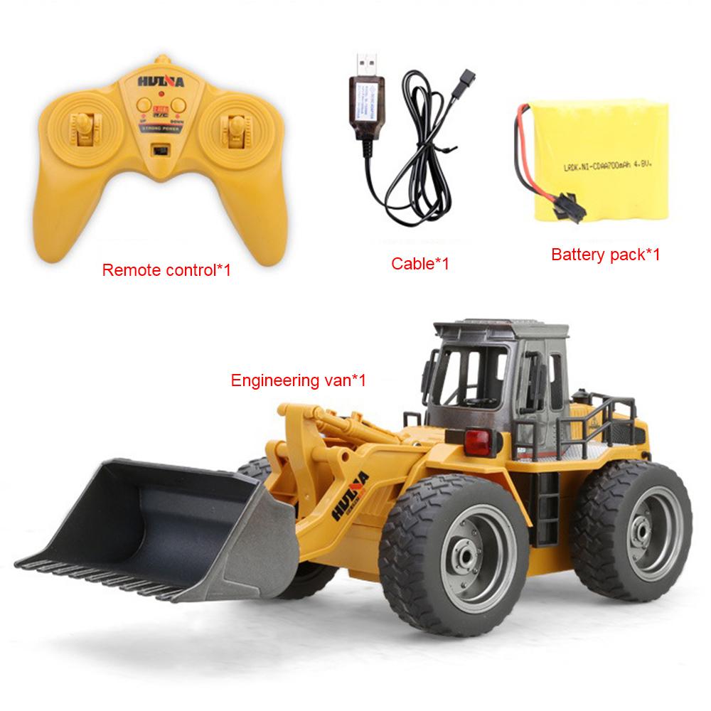 [해외]2.4G 6CH 1:18 RC 트럭 아이들을RTR 원격 제어 트럭 건설 차량을 충전하는 금속 불도저 완구 선물/2.4G 6CH 1:18 RC Trucks Metal Bulldozer Charging RTR Remote Control Truck Constructi