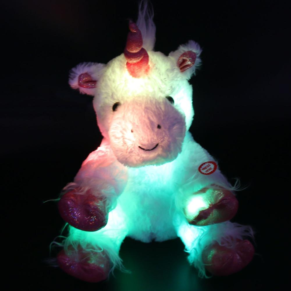 [해외] 30cm / 40cm LED Lumious 밤 빛 박제 동물 인형 봉제 인형 다채로운 LED 완구 크리스마스 탄생/Dropshipping 30cm/40cm LED Lumious Night Light Stuffed Unicorn Stuffed Animals Pl