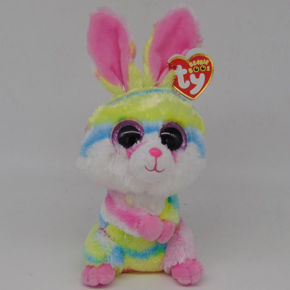 [해외]Pyoopeo 오리지널 Ty Beanie Boos 6 & 15cm Lollipop 다색 토끼 봉제 인형 토끼 일반 소장품 Big Eyes Doll Toy/Pyoopeo Original Ty Beanie Boos 6& 15cm Lollipop Multico